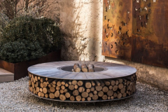 Ak47-fire-pit-Circular-aluminium-fire-pit-with-log-storage-seating-600x600