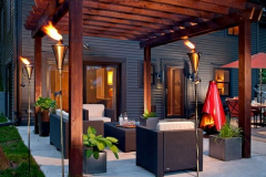 Snazzy-pergola-has-a-Medieval-charm-thanks-to-the-fiery-additions